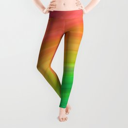 Bright Rainbow | Abstract gradient pattern Leggings