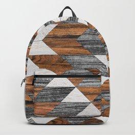 Urban Tribal Pattern 12 - Aztec - Wood Backpack