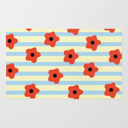 Poppies & Stripes Rug