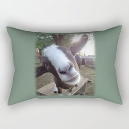Goat Barnyard Farm Animal Rectangular Pillow