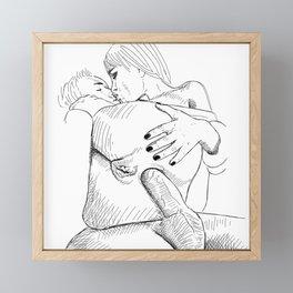 Back Door love Framed Mini Art Print