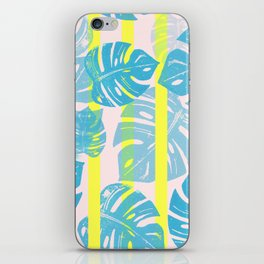 Linocut Monstera Neon iPhone Skin
