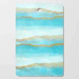 Gold and blue sea Cutting Board