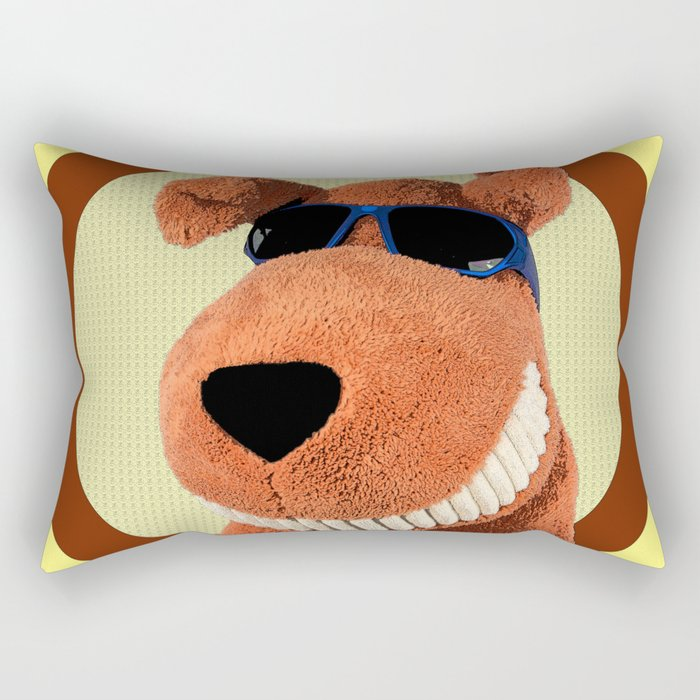 Dog with Shades Rectangular Pillow