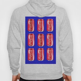 Red on blue Hoody