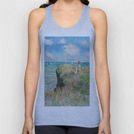 1882-Claude Monet-Cliff Walk at Pourville-66 x 82 Unisex Tank Top