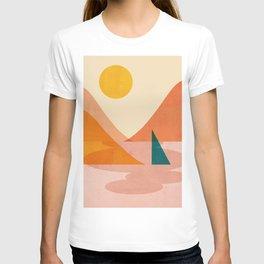 Abstraction_Lake_Sunset T-shirt