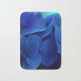 Pretty Indigo Hydrangea Flower  #decor #society6 #buyart Bath Mat