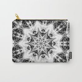 Atomic Black Center Swirl Mandala Carry-All Pouch