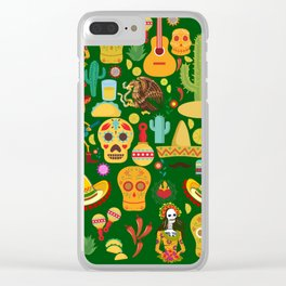 Fiesta Time! Mexican Icons Clear iPhone Case