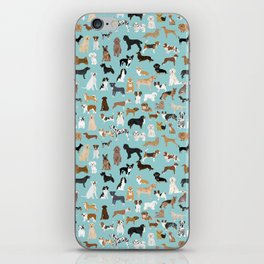 Dogs pattern print must have gifts for dog person mint dog breeds iPhone Skin