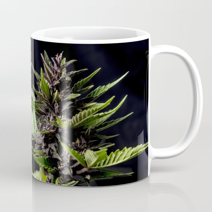 Purple Cannabis Plant Coffee Mug