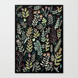 Dark Botanic Canvas Print