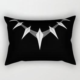 Black panther necklace Rectangular Pillow