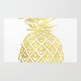 Gold foil look pineapple Rug