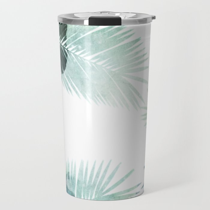 Watercolor Leafs 2 Travel Mug