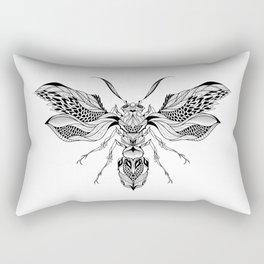 WASP beetle psychedelic / zentangle style Rectangular Pillow