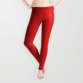 Red Saturated Pixel Dust Leggings