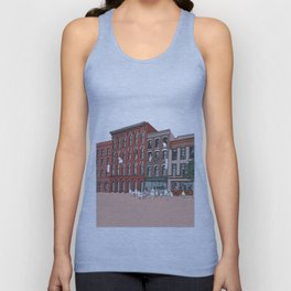 Upstate New york, NY, USA _ Illustration _ Drawing _ Travel _ City _ Wall Decor _ Design Unisex Tank Top