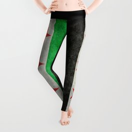 Independence flag of Syria, vintage retro style Leggings