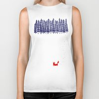 is the new black Biker Tanks featuring Alone in the forest by Robert Farkas