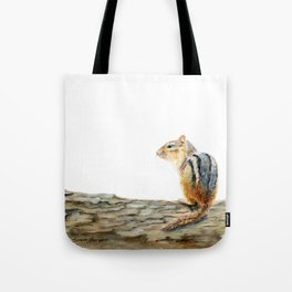 Little Chip - a painting of a Chipmunk by Teresa Thompson Tote Bag