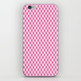 Pink Roses in Anzures 1 Gingham 1 iPhone Skin