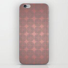 Tin circles on shiny marsala pattern iPhone Skin