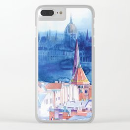 Morning in Budapest Clear iPhone Case