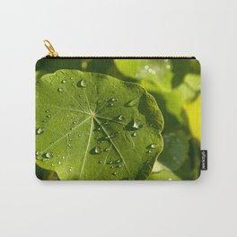 Rain drips on a nasturtium leaf Carry-All Pouch