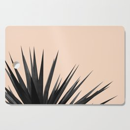 Black Palms on Pale Pink Cutting Board
