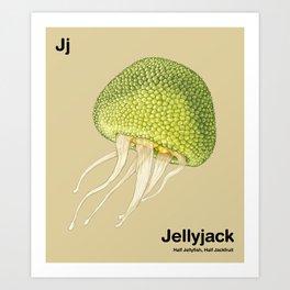 Jj - Jellyjack // Half Jellyfish, Half Jackfruit Art Print