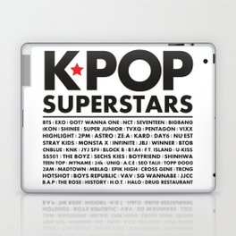 KPOP Superstars Original Boy Groups Merchandse Laptop & iPad Skin
