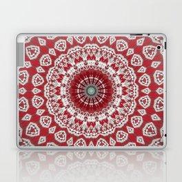Red White Bohemian Mandala Design Laptop & iPad Skin