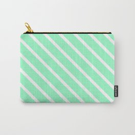 Mint Julep #2 Diagonal Stripes Carry-All Pouch