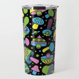 Shroomin Blacklight Travel Mug