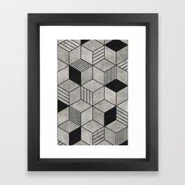 Concrete Cubes 2 Framed Art Print