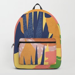 Summer with flower of a turban girl Backpack