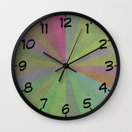 Radial Stripes - Earthy Colors Wall Clock