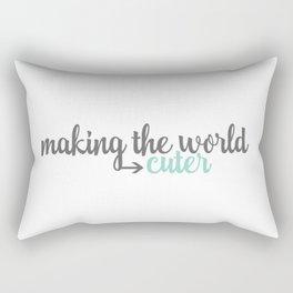 Making the World Cuter Rectangular Pillow
