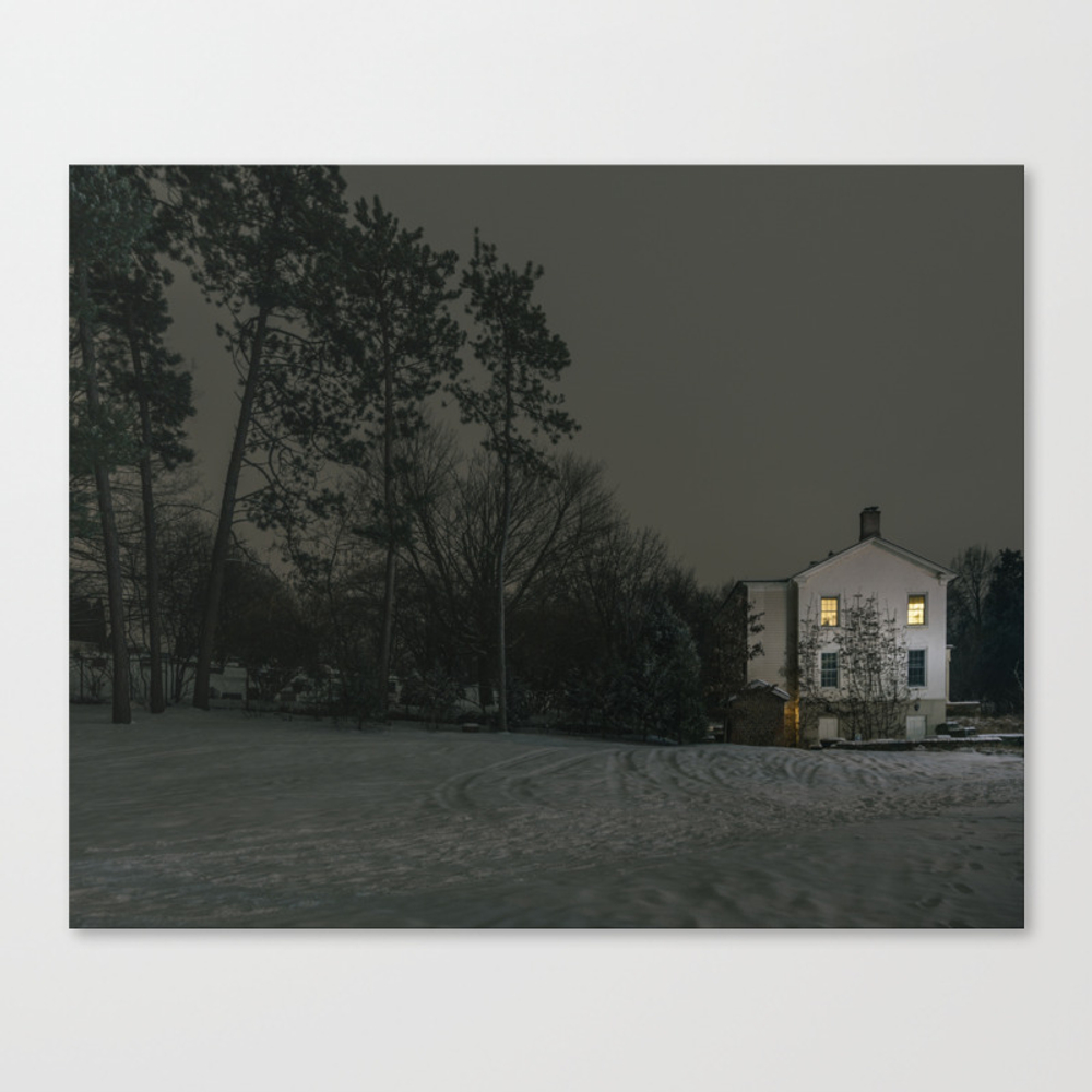 The House By The Cemetery Canvas Print by Peterbaker CNV967316