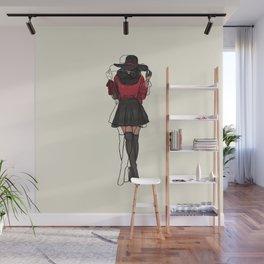 The Fashionista Artsy Fashion Illustration Wall Mural