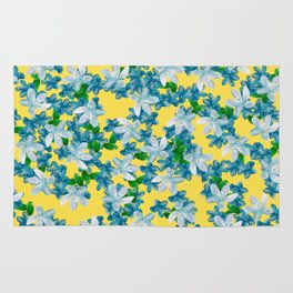 Summer Flowers Yellow Rug