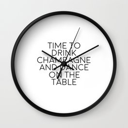 Party Decorations Chamapage Gift Party Like Gatsby Birthday Decorations Bar Decor Quotes Champagne Wall Clock