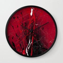 Rising - abstract painting by Rasko Wall Clock