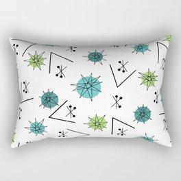 Mid Century Modern Sputnik Starburst Planets 9 Rectangular Pillow