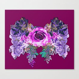 Bow of Roses /Purple(multi) Canvas Print