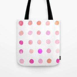 Pink dots Tote Bag