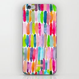 Colorful Dashes Tribal iPhone Skin