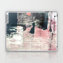 Sweet tooth [7]: a colorful abstract mixed media piece in pink, blues, and white Laptop & iPad Skin